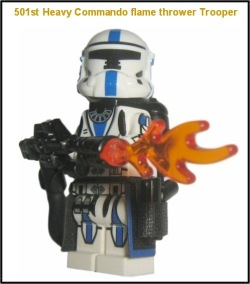 501st Legion Heavy Commando flame thrower trooper
